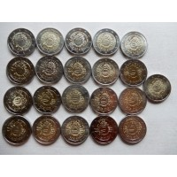 2012 10th anniversary of Euro coins and banknotes 21 pcs