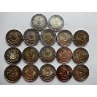 2012   10th anniversary of Euro coins and banknotes 17 pcs