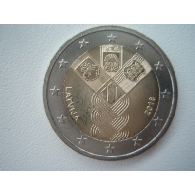 2018-Latvia100 years since independence common commemorative coin with Estonia and Lithuania