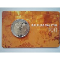 2018-Latvia Baltic States 100 (coin card)