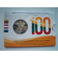 2018-Lithuania Baltic States 100 (coin card)