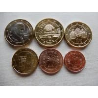 Austria 1,2,10,20 ja 50 senti+1 euro 2018