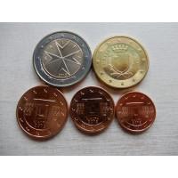 Malta 1,2,5 ja 50 senti+2 euro 2013