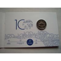 2019-Estonia 100 years since the foundation of the Estonian language University of Tartu (coin card)
