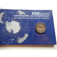 2020-Estonia   200 years since the discovery of the Antarctic (coin card)