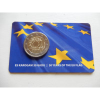 2015-Euroopa Lipu 30a.(EF)-Läti (mündikaart)