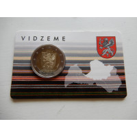 2016-Läti Vidzeme (mündikaart)