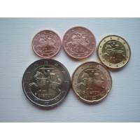 Leedu 1,2,10,20 senti ja 2 eurot 2017